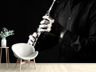 Clarinet player classical musician