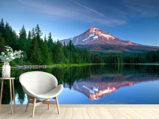 Mount Hood, Oregon reflected in Trillium Lake.