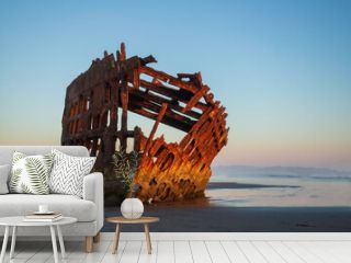 Remains of the ship wreck Peter Iredale