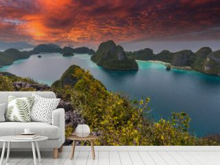 Indonesia superb sunset in Papua Raja-Ampat-Papua