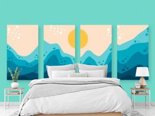Hand Drawn Abstract Landscape Covers Collection_5