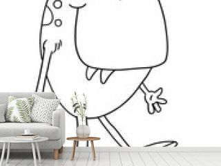 Cute Monster Vector Illustration Coloring Book Page Art