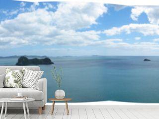 Cathedral Cove panorama, Coromandel Peninsula, New Zealand