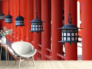 Lanterns at Miyajima's Itsukushima Shrine - Japan