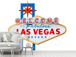 las vegas sign isolated on white