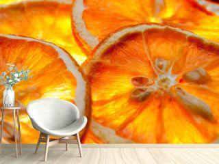 Orangenscheiben getrocknet