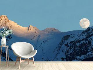 Moonrise in Alps