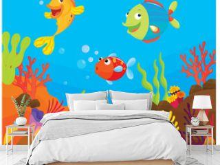 reef fish underwater illustration