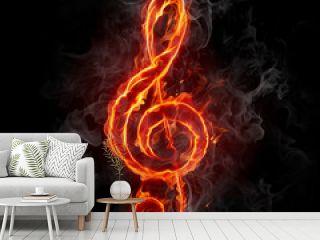 Fire treble clef