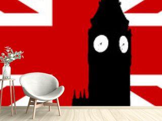 Big Ben And United Kingdom Flag
