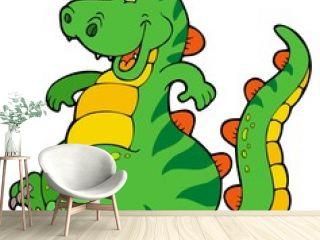 Cute sitting dinosaur