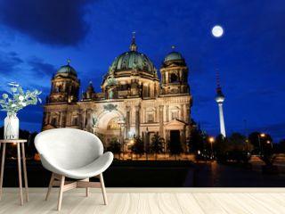the Berliner Dom in the night in Berlin