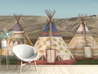 Indianer Zeltdorf