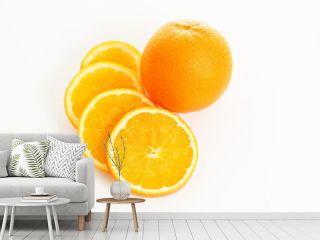 Orangen - Orange mit Orangenscheiben