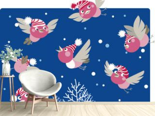 Funny winter birds
