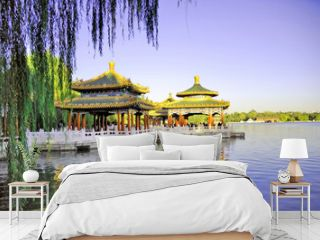 Beijing Beihai imperial park five dragon pavilions