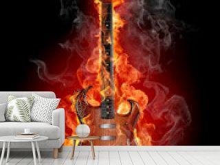 Burning rock guitar
