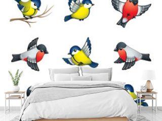 Winter Birds Illustration