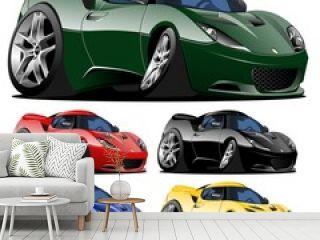 vector cartoon car one click repaint