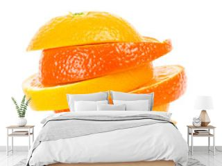 gefächerte Orangen