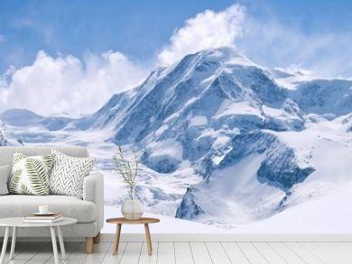 Swiss Alps Mountain Range Landscape