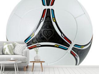 Stylish football - soccer ball on white background