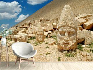 Heads of the statues on Mount Nemrut in Turkey, UNESCO