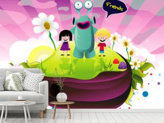 abstract characters color vector