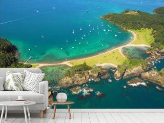 Aerial - Roberton Island, Bay of Islands, New Zealand