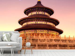 night view of beijing Temple of Heaven