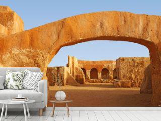 Star wars movie set in the Sahara desert of Tunisia,Africa
