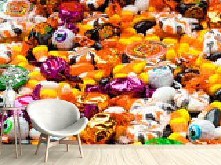 full frame of candies