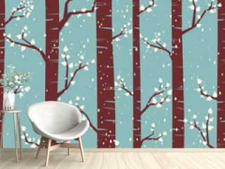 Winter Forest Seamless Pattern