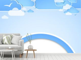 Good weather background. Blue sky with clouds