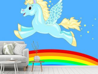 flying horse over the rainbow