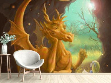 dragon and princess reading a book