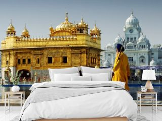 Sikh in front of Golden Temple, Amritsar, India