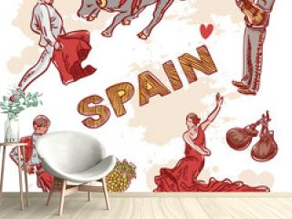 Set of Spanish symbols