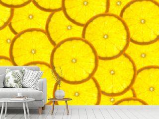 Background with citrus-fruit of orange slices  / back lit