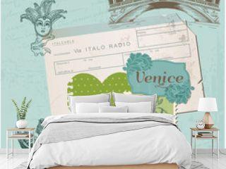 Scrapbook Design Elements - Venice Vintage Set -  in vector