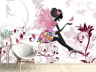 Flower Fairy with butterflies
