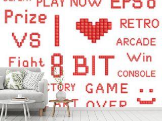 Red Pixel Art Slogans