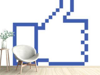 Pixelated Thumb Up, social media icon