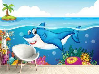 shark fish in sea
