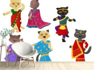 Cats in a sari