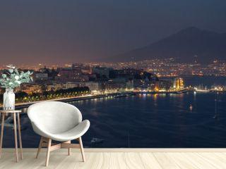 Night bay of Naples
