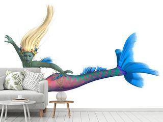 Mermaid on White