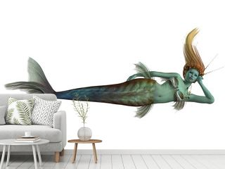 Siren Mermaid on White