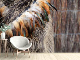 Maori cloak made from feathers
