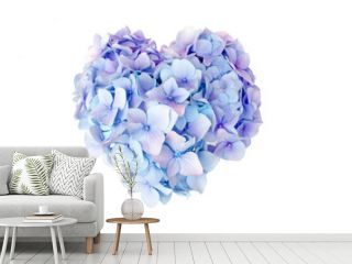 Hydrangea flower in heart shape